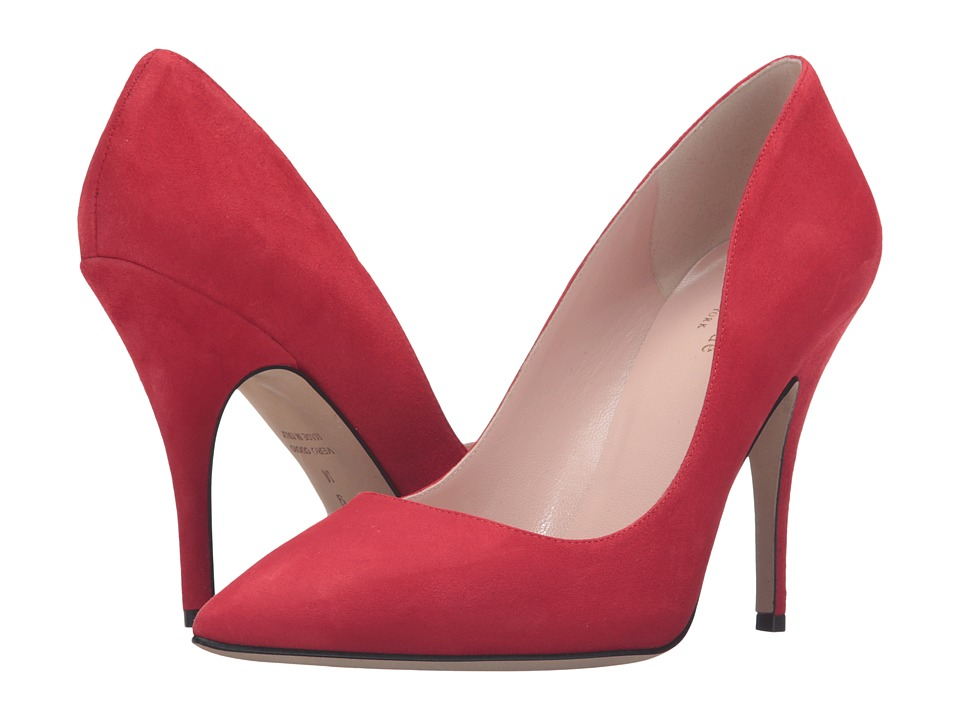 Kate Spade New York - Licorice (Poppy Red Kid Suede) High Heels