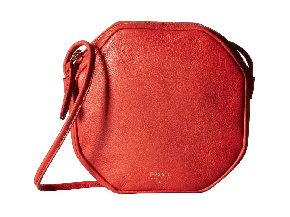 Fossil - Jules Octagon Crossbody (Tomato) Cross Body Handbags