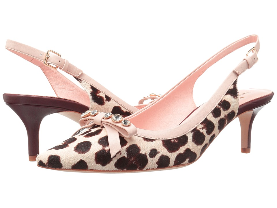 Kate Spade New York Palina Blush-Brown Leopard Haircalf Print Womens Shoes