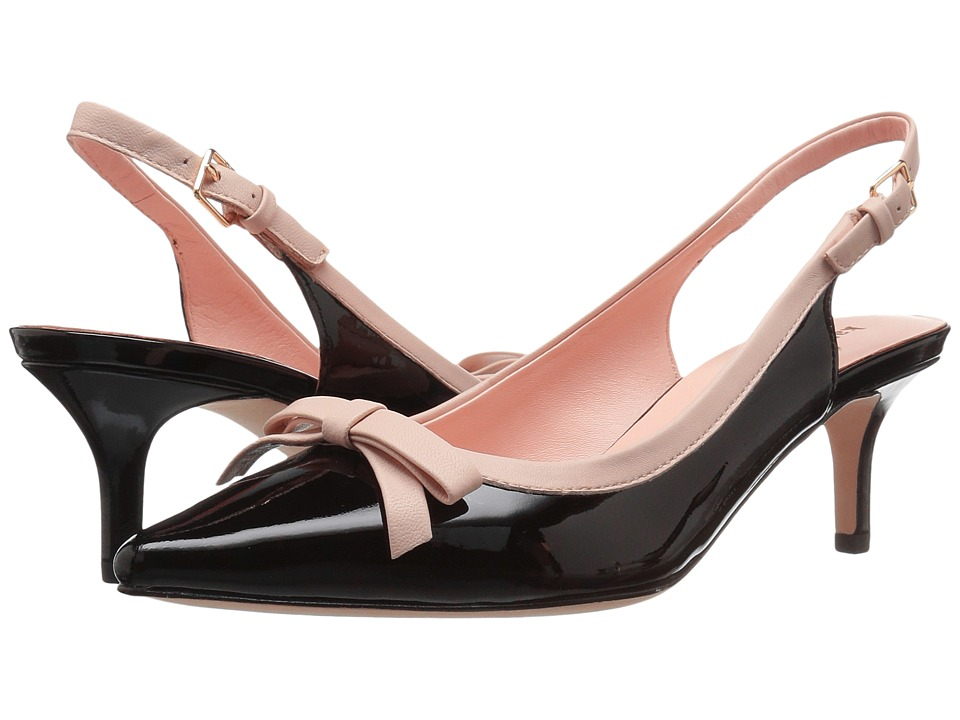 Kate Spade New York - Palina Too (Black Patent/Pale Pink Nappa) Women's Shoes
