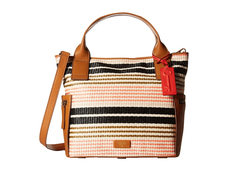 Fossil - Emerson Satchel (Pink Stripe) Satchel Handbags