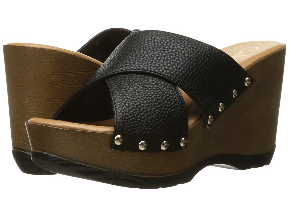 Callisto of California - Cinamon (Black Leather) Women's Shoes