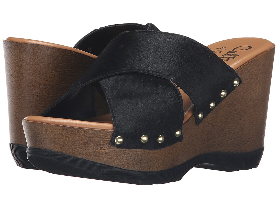 Callisto of California - Cinamon (Black Pony) Women's Shoes