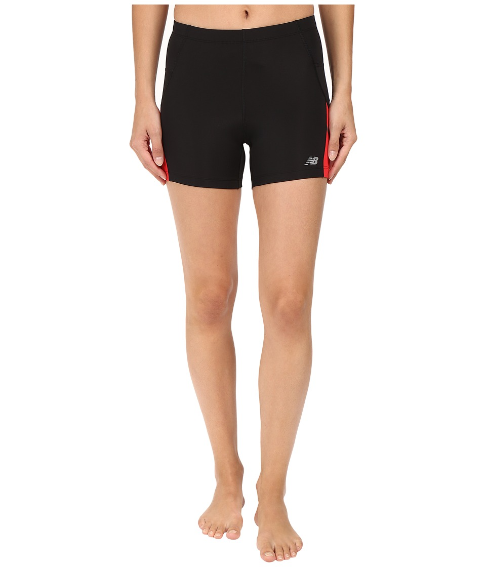New Balance - Accelerate Fitted Shorts (Black/Cerise) Women's Shorts