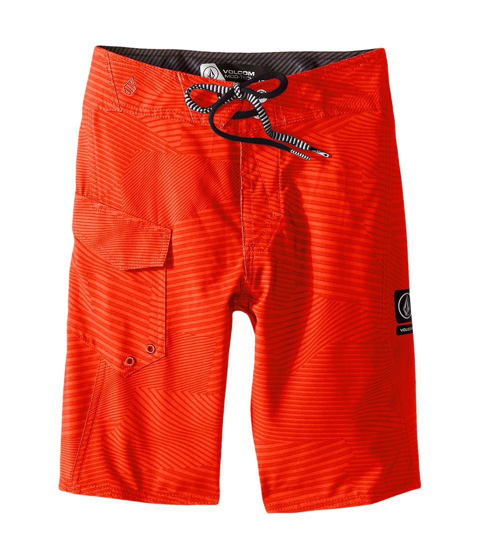 Volcom Kids - Stone Mod Boardshorts (Big Kids) (Flash Orange) Boy's Swimwear