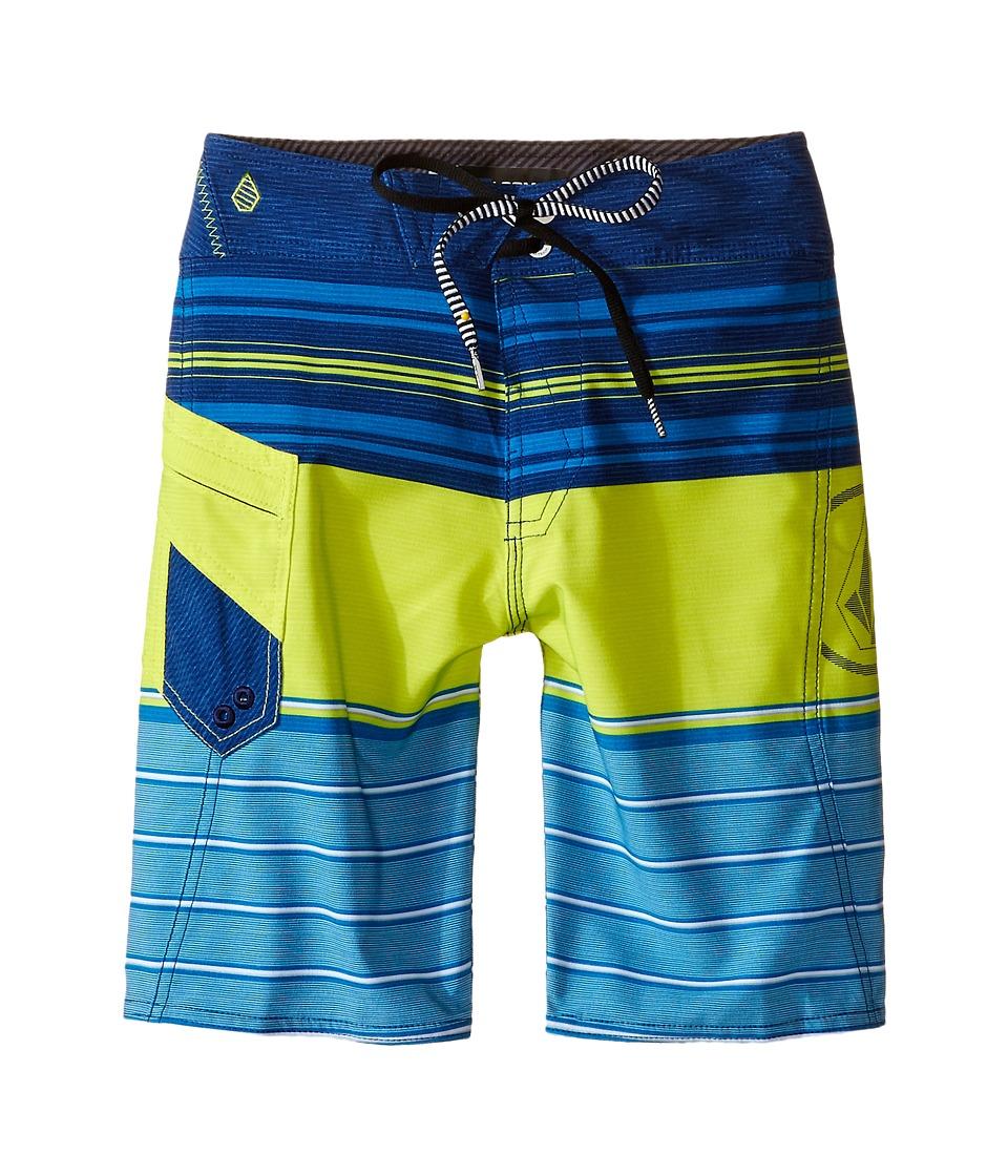 Volcom Kids - Lido Liner Mod Boardshorts (Big Kids) (Lime) Boy's Swimwear
