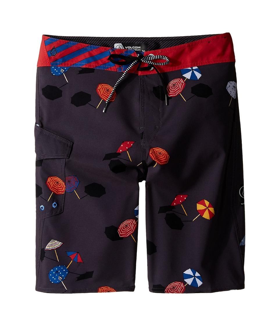 Volcom Kids - Happy Dayz Mod Boardshorts (Big Kids) (Charred) Boy's Swimwear