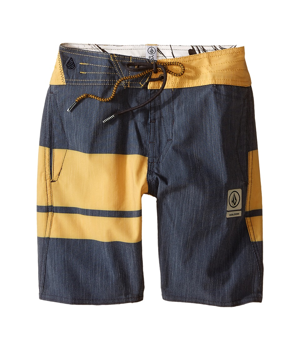 Volcom Kids - 3 Quarta Slinger Boardshorts (Big Kids) (Navy) Boy's Swimwear
