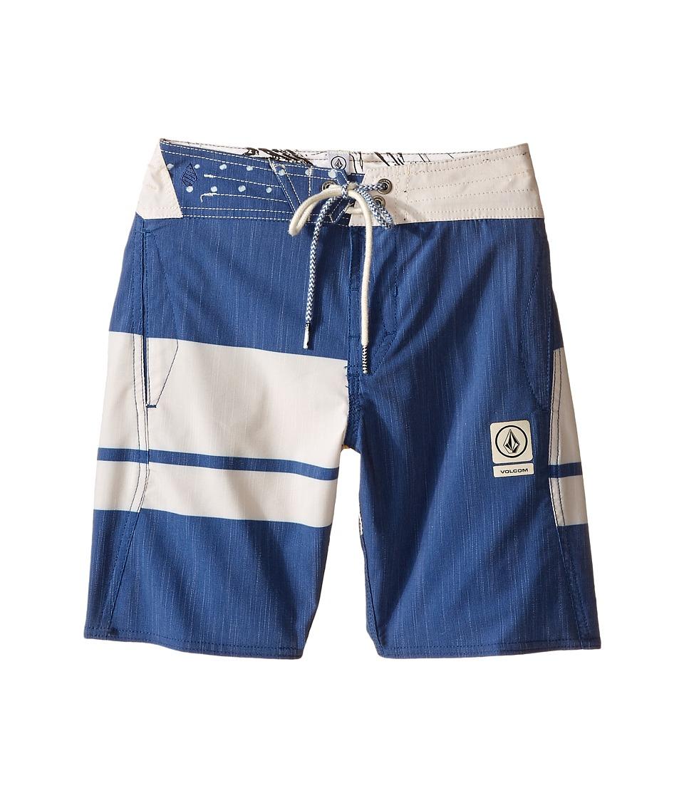 Volcom Kids 3 Quarta Slinger Boardshorts (Big Kids) (Camper Blue) Boy