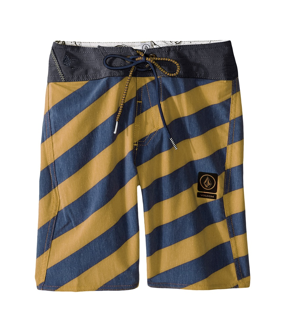 Volcom Kids Stripey Slinger Boardshorts (Big Kids) (Golden Mustard) Boy