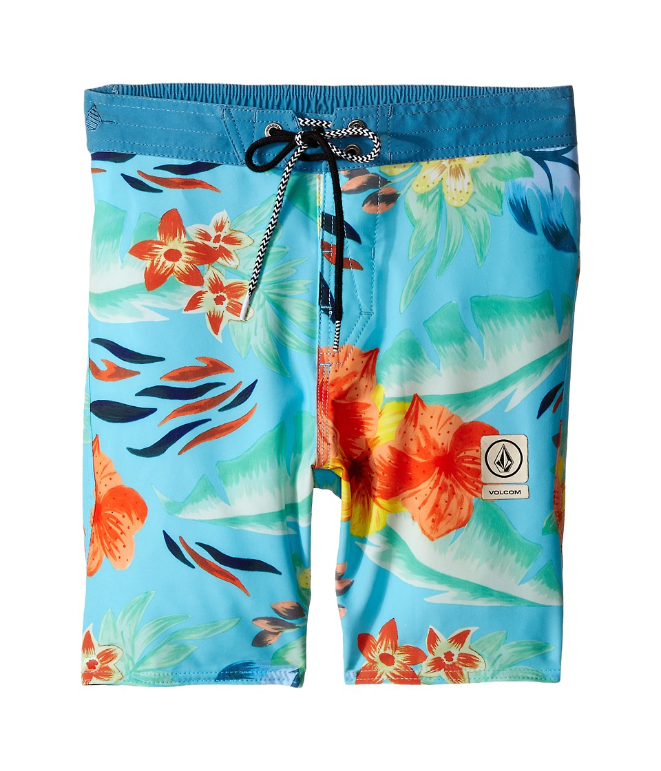 Volcom Kids - Party Pack Safari Elastic Waist Boardshorts (Big Kids) (Bright Turquoise) Boy's Swimwear