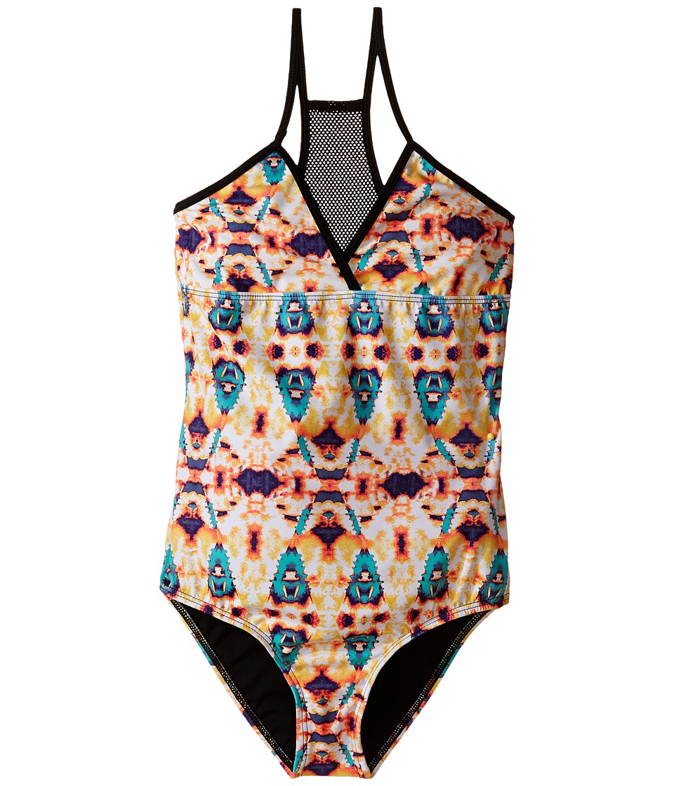 Hurley Kids - Jagged Tie-Dye One-Piece (Big Kids) (Multi) Girl's Swimsuits One Piece