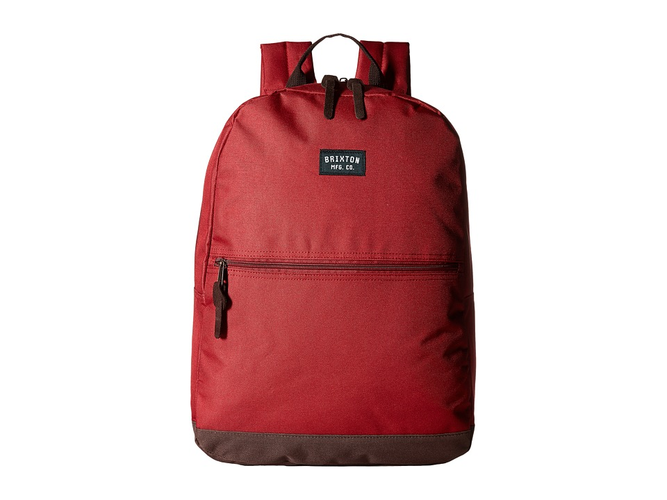 Brixton - Locker Backpack (Maroon/Brown) Backpack Bags