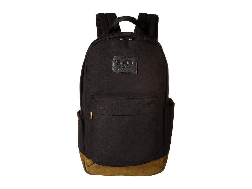 Brixton - Basin Backpack (Black/Olive) Backpack Bags
