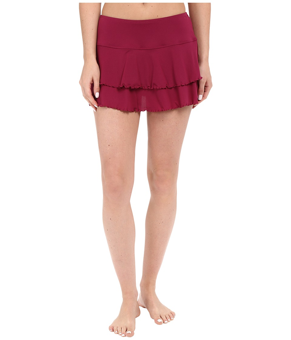 Body Glove Smoothies Lambada Skirt (Black Plum) Women