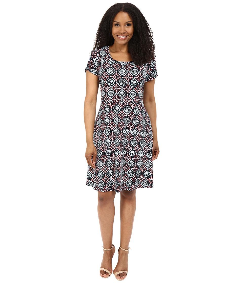 MICHAEL Michael Kors - Plus Size Nui Cap Flare Dress (Coral Reef) Women's Dress