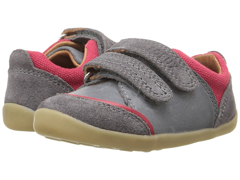 Bobux Kids - Step Up Slide (Infant/Toddler) (Gray/Red) Boy's Shoes
