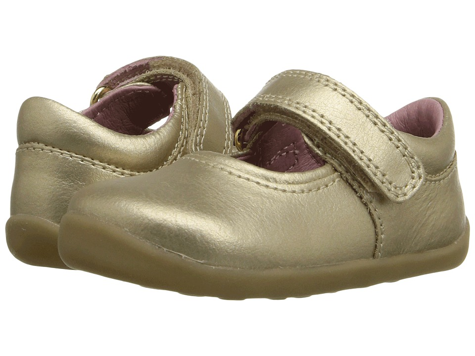 Bobux Kids - Step Up Shiny Dancer Mary Jane (Infant/Toddler) (Gold) Girls Shoes