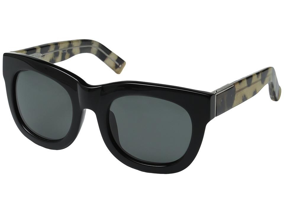 Image of 3.1 Phillip Lim - PL159C2SUN (Black/Cheetah/Fog Green) Fashion Sunglasses