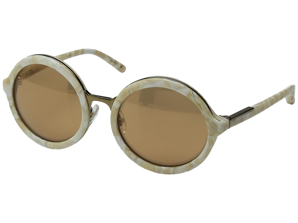 3.1 Phillip Lim - PL11C30SUN (Cream Pearl/Bronze Mirror) Fashion Sunglasses