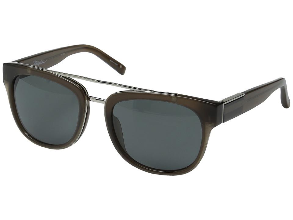 Image of 3.1 Phillip Lim - PL144C5SUN (Carob/Silver/Fog Green) Fashion Sunglasses