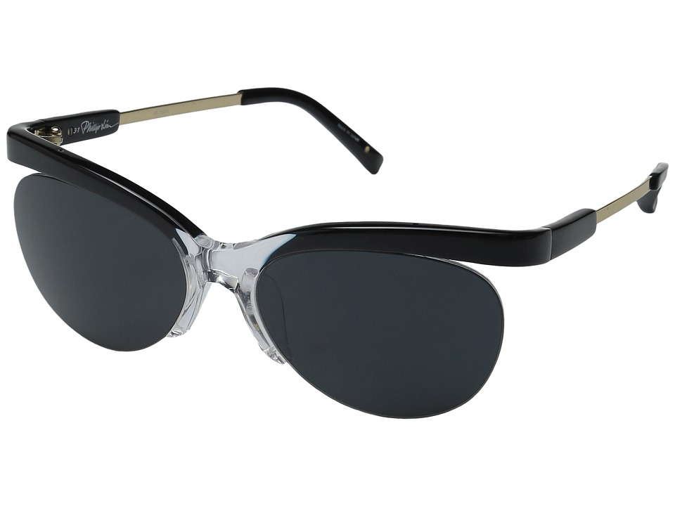 3.1 Phillip Lim - PL160C1SUN (Black/Clear/Champagne/Bang Bang Black) Fashion Sunglasses