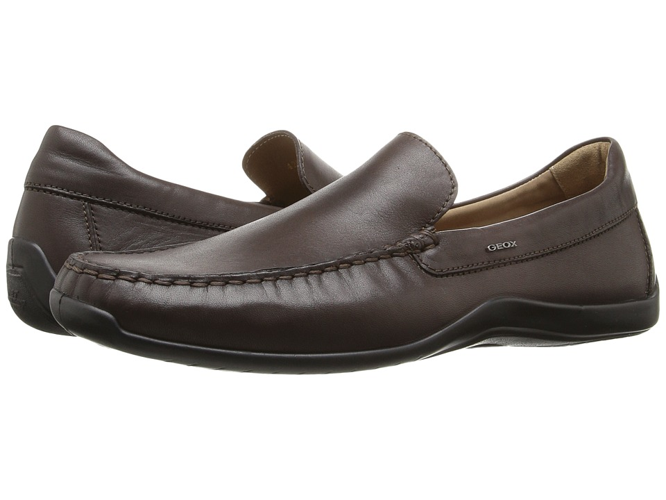 Geox - U Xence Mox 5 (Coffee) Men's Slip on Shoes