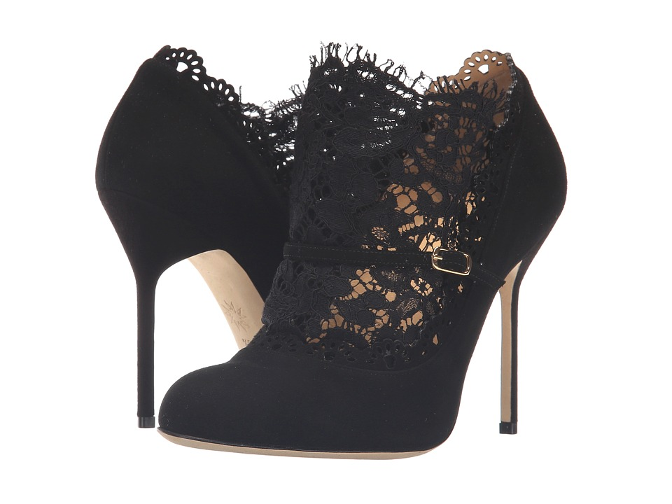 Marchesa Libby (Black Suede/Black Lace) Women