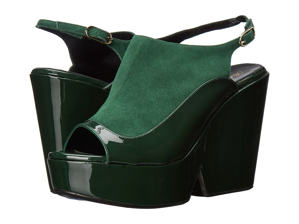 Robert Clergerie - Dana (Green Patent) Women's Wedge Shoes
