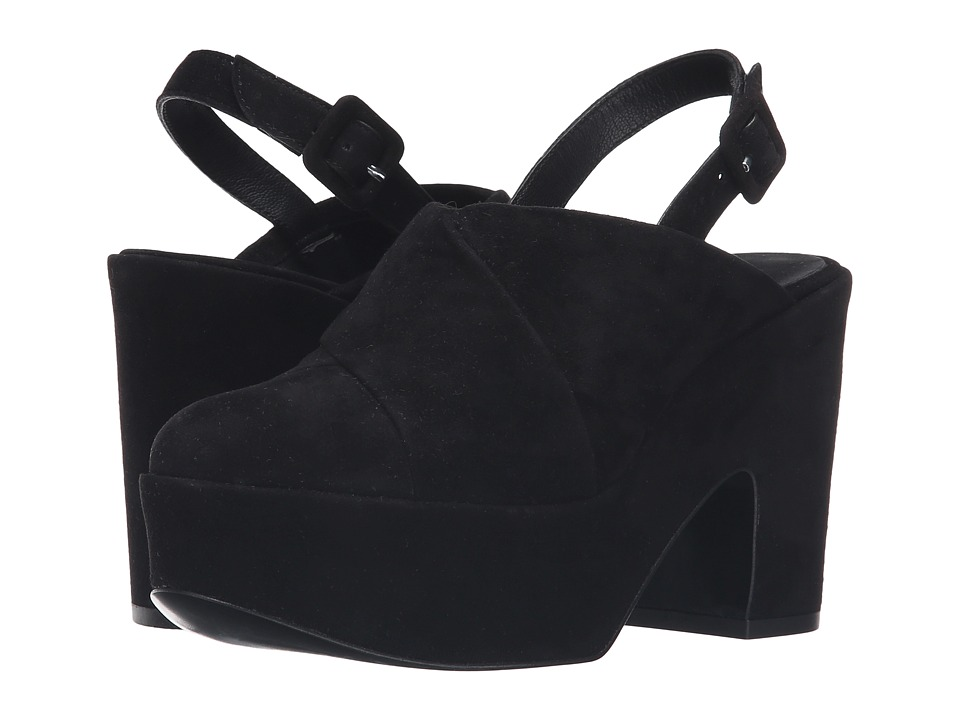 Robert Clergerie Verlo (Black Suede) Women