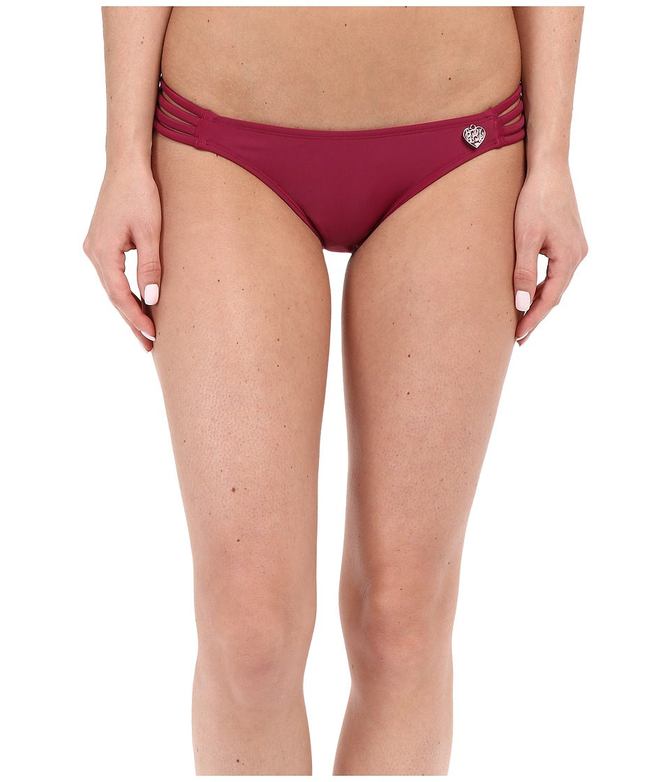Body Glove - Smoothies Flirty Surf Rider Bottom (Black Plum) Women's Swimwear