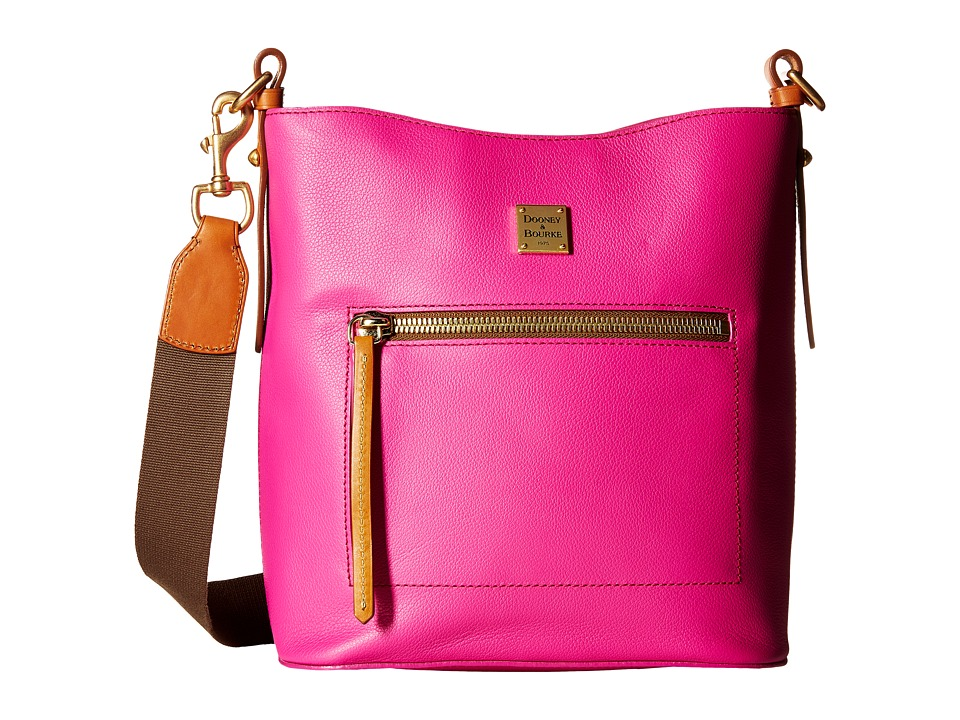 Dooney & Bourke - Raleigh Roxy Bag (Fuchsia/Natural Trim) Cross Body Handbags