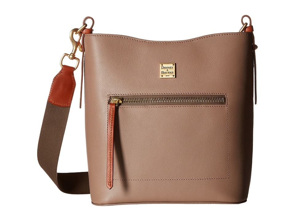 Dooney & Bourke - Raleigh Roxy Bag (Mushroom/Natural Trim) Cross Body Handbags