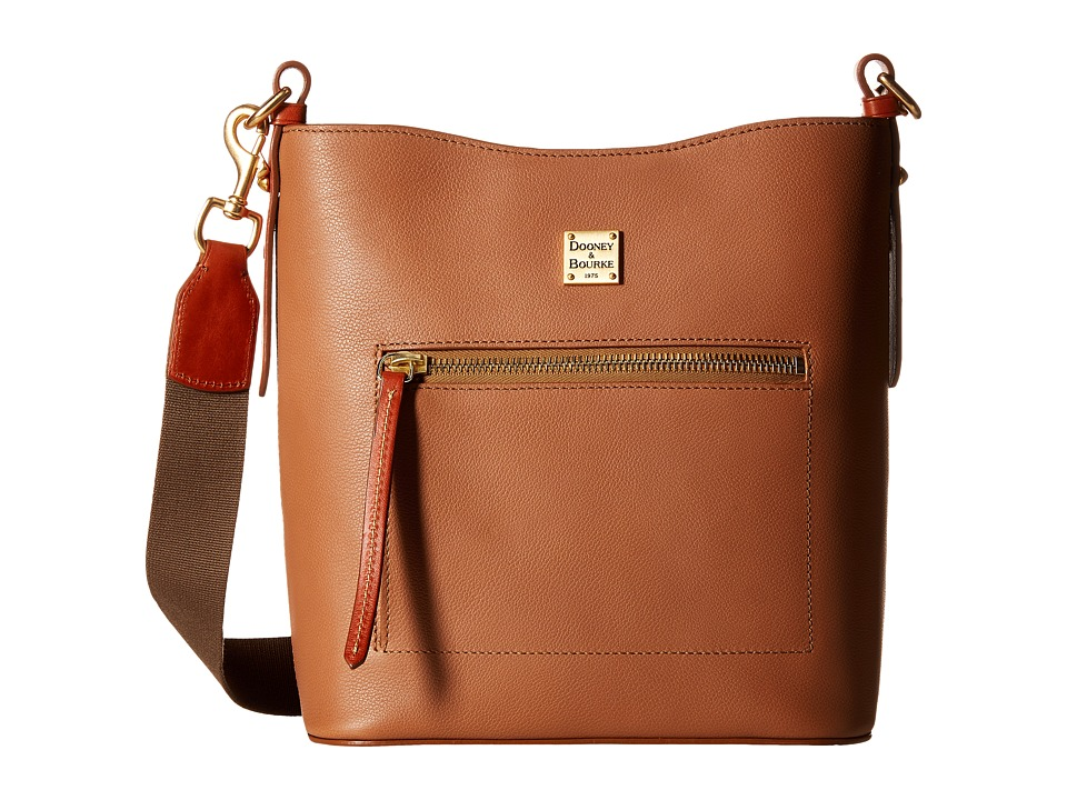Dooney & Bourke - Raleigh Roxy Bag (Saddle/Natural Trim) Cross Body Handbags