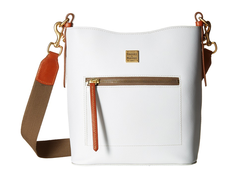 Dooney & Bourke - Raleigh Roxy Bag (White/Natural Trim) Cross Body Handbags