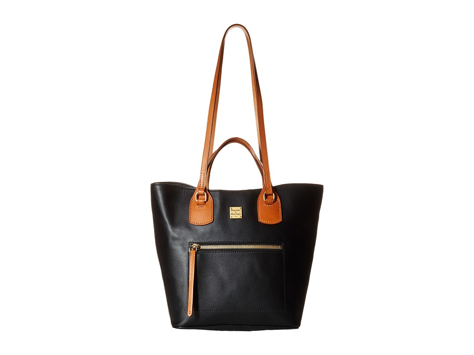 Dooney & Bourke - Raleigh Jenny Bag (Black/Natural Trim) Bags
