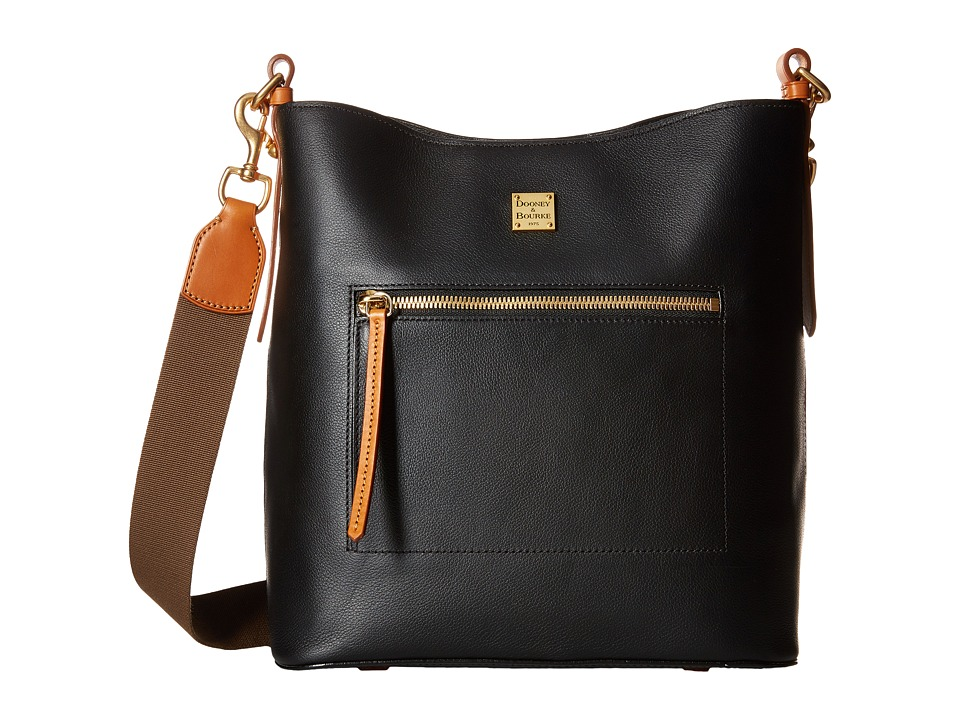 Dooney & Bourke - Raleigh Large Roxy Bag (Black/Natural Trim) Bags