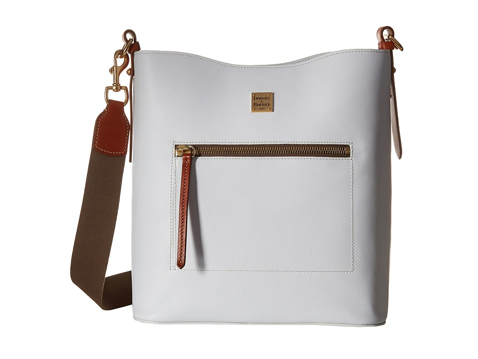 Dooney & Bourke - Raleigh Large Roxy Bag (White/Natural Trim) Bags