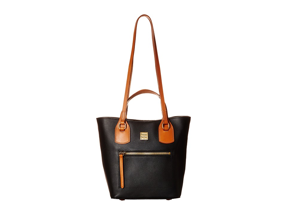 Dooney & Bourke - Raleigh Small Jenny Bag (Black/Natural Trim) Bags