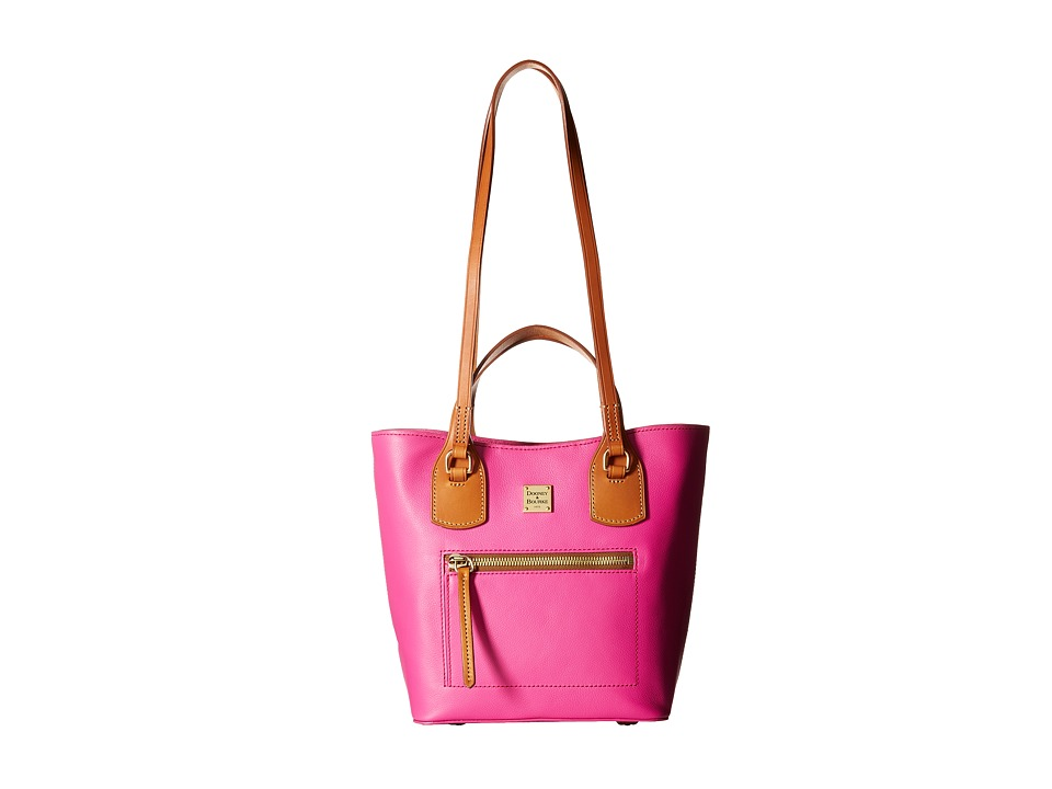 Dooney & Bourke - Raleigh Small Jenny Bag (Fuchsia/Natural Trim) Bags