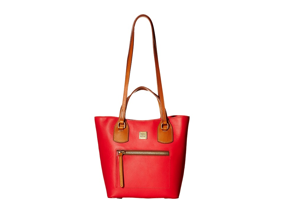 Dooney & Bourke - Raleigh Small Jenny Bag (Geranium/Natural Trim) Bags