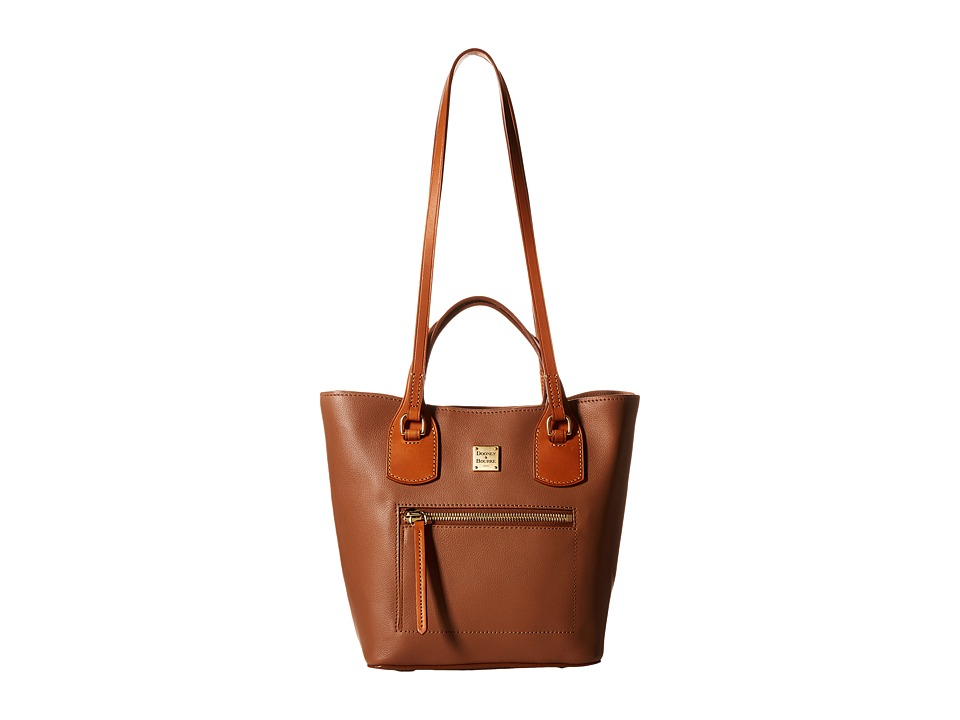Dooney & Bourke - Raleigh Small Jenny Bag (Saddle/Natural Trim) Bags