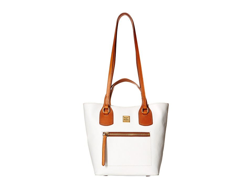Dooney & Bourke - Raleigh Small Jenny Bag (White/Natural Trim) Bags