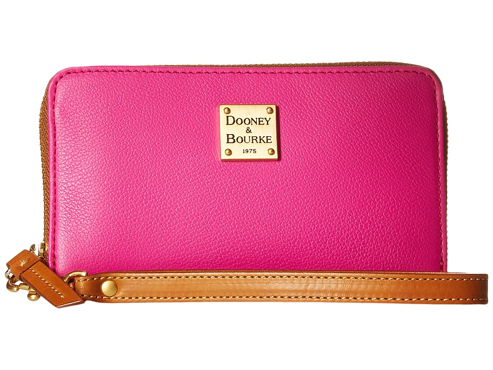 Dooney & Bourke - Raleigh Zip Around Phone Wristlet (Fuchsia/Natural Trim) Wristlet Handbags