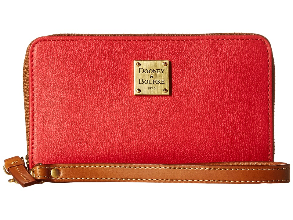 Dooney & Bourke - Raleigh Zip Around Phone Wristlet (Geranium/Natural Trim) Wristlet Handbags