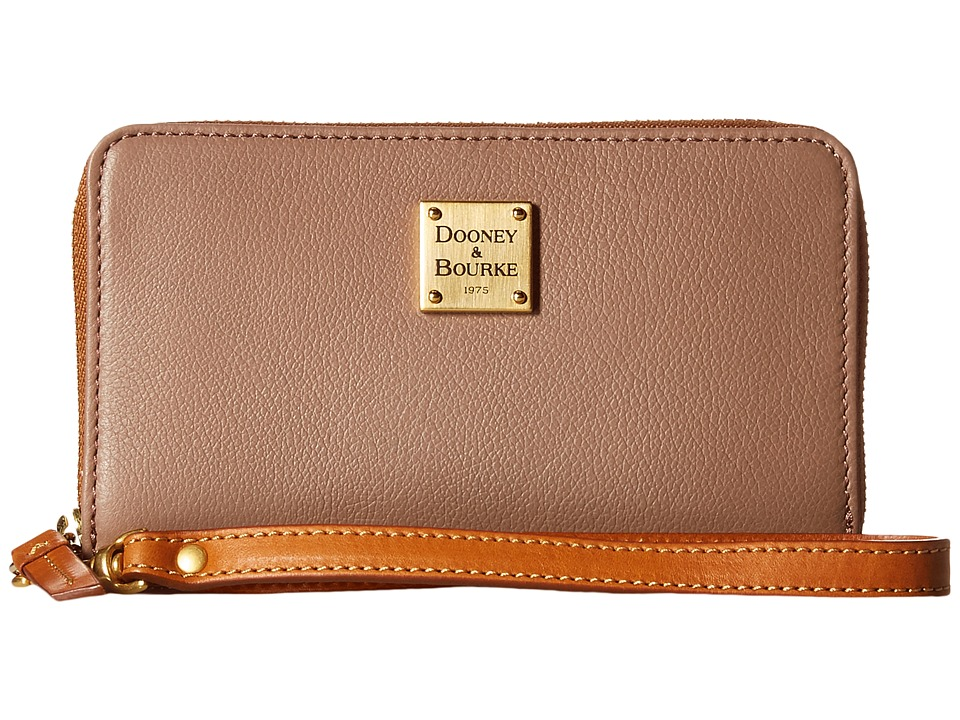 Dooney & Bourke - Raleigh Zip Around Phone Wristlet (Mushroom/Natural Trim) Wristlet Handbags