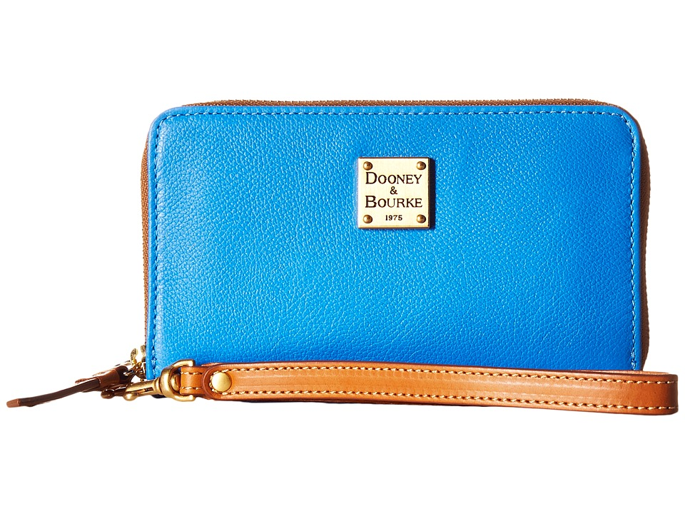 Dooney & Bourke - Raleigh Zip Around Phone Wristlet (Ocean/Natural Trim) Wristlet Handbags