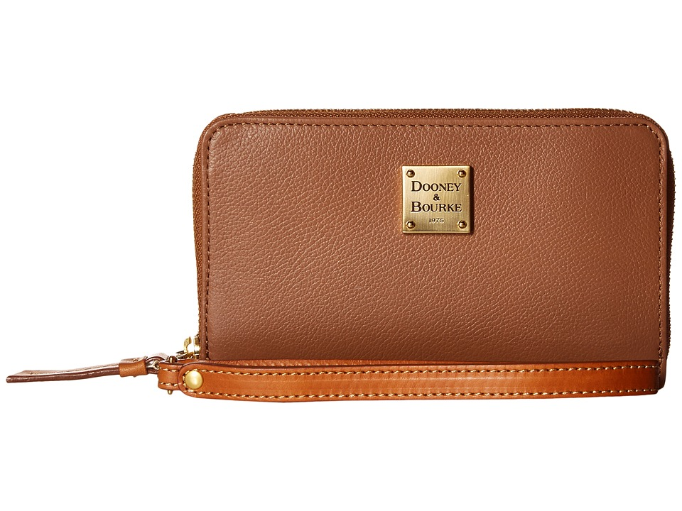 Dooney & Bourke - Raleigh Zip Around Phone Wristlet (Saddle/Natural Trim) Wristlet Handbags