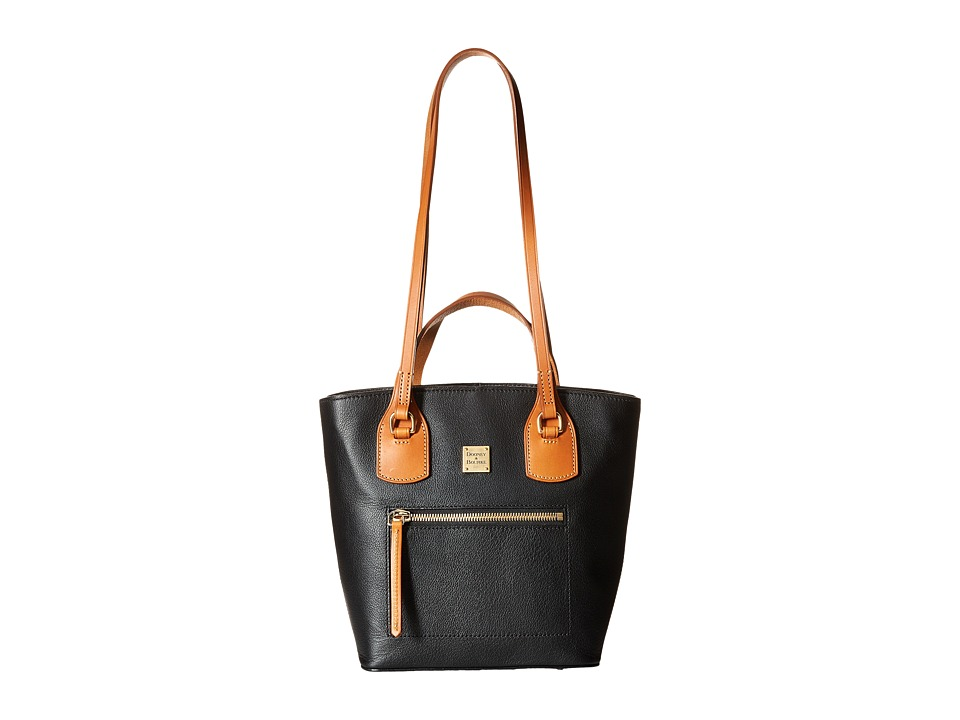 Dooney & Bourke - Raleigh Small Tara Shopper (Black/Natural Trim) Handbags