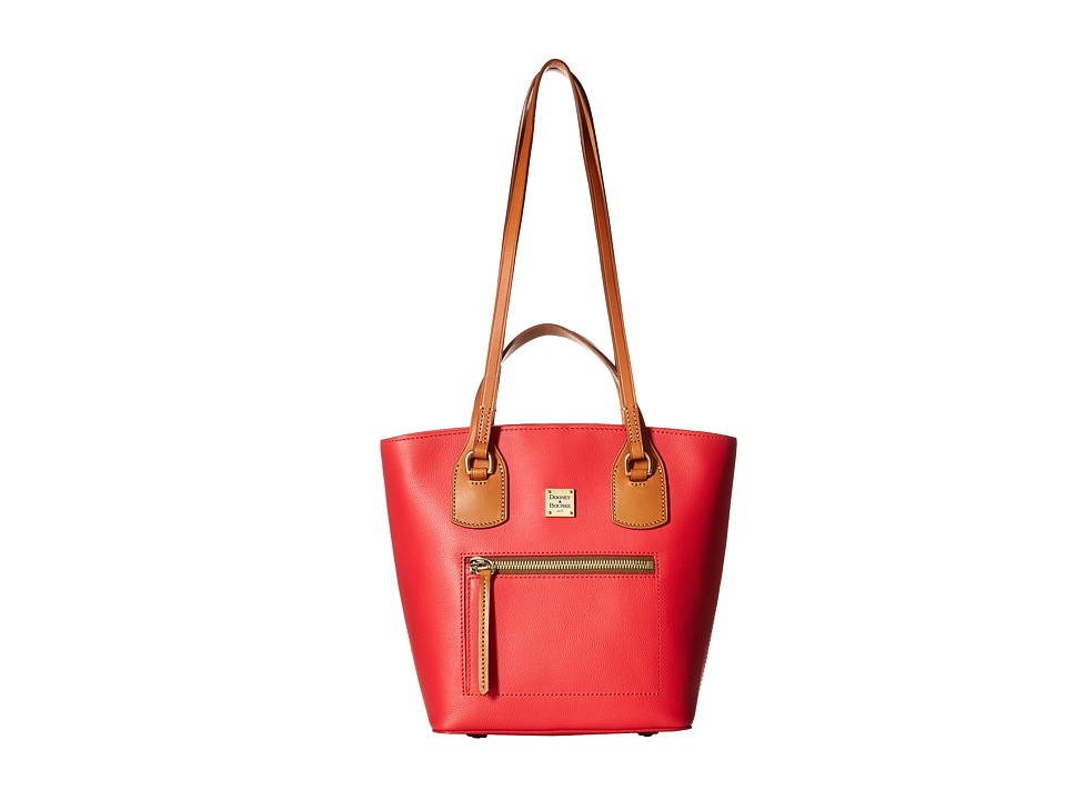 Dooney & Bourke - Raleigh Small Tara Shopper (Geranium/Natural Trim) Handbags